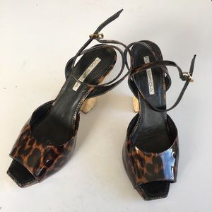 Via spiga made in Italy ankle strap heeled sandals